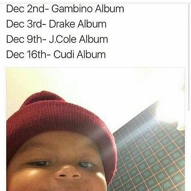It's beginning to look a lot like Christmas 🙏🏾 #childishgambino #drake #jcole #kidcudi #christmas #goodmusic #awakenmylove #morelife #4youreyezonly #passionpainanddemonslayin  I think that Drake date is wrong FYI