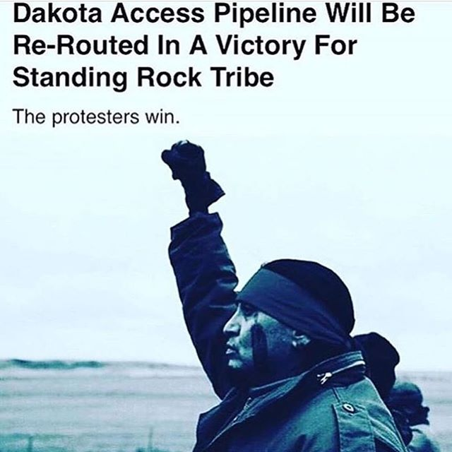 Respects to everybody who helped in any way, shape or form. This is great. Power to the people. #noDAPL and it's fitting that it happened today #ripfredhampton