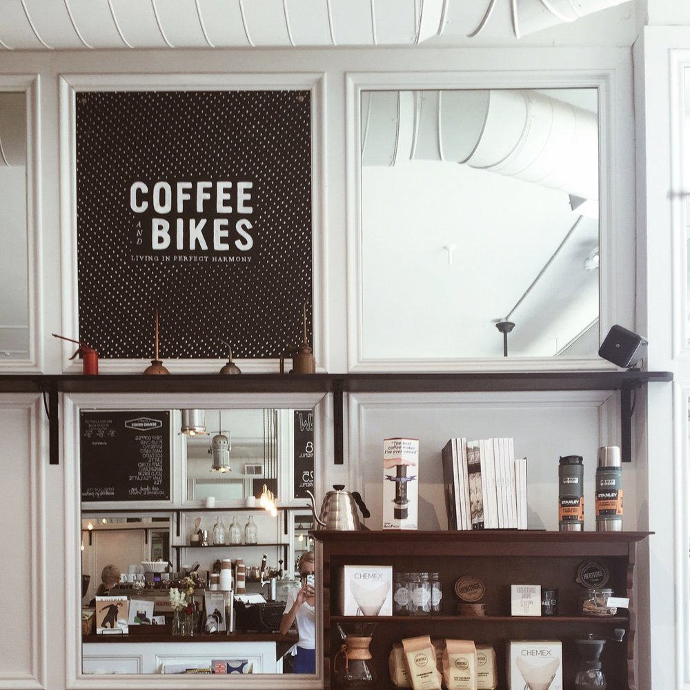 Heritage Coffee & Bikes.