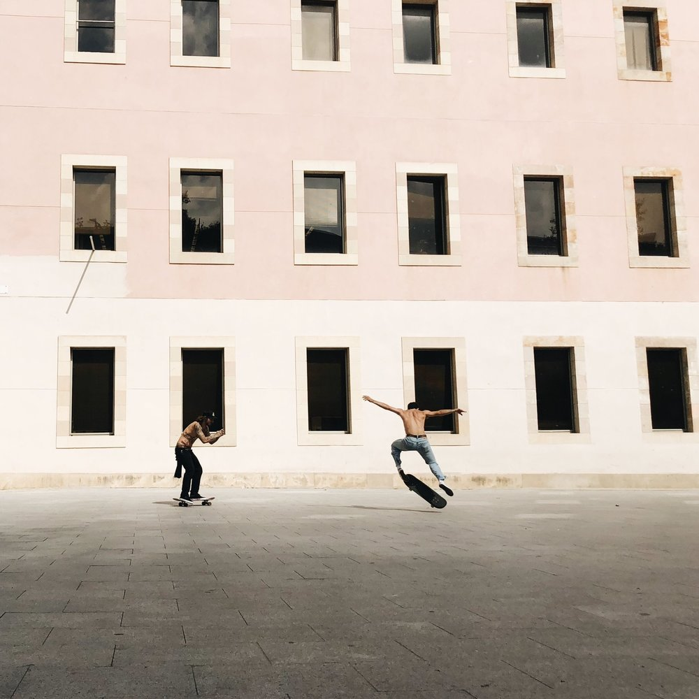 MACBA is skateboarding central.