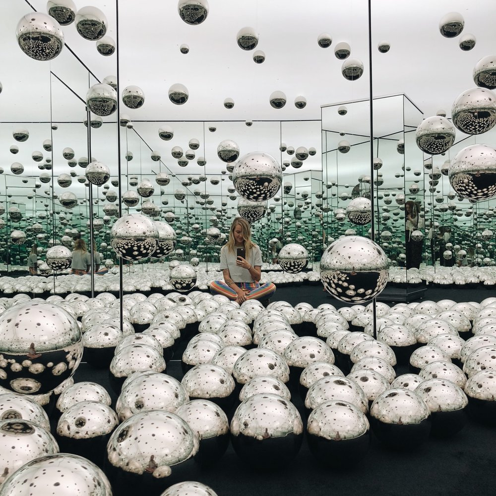Yayoi Kusama's Infinity Room at the wndr museum.