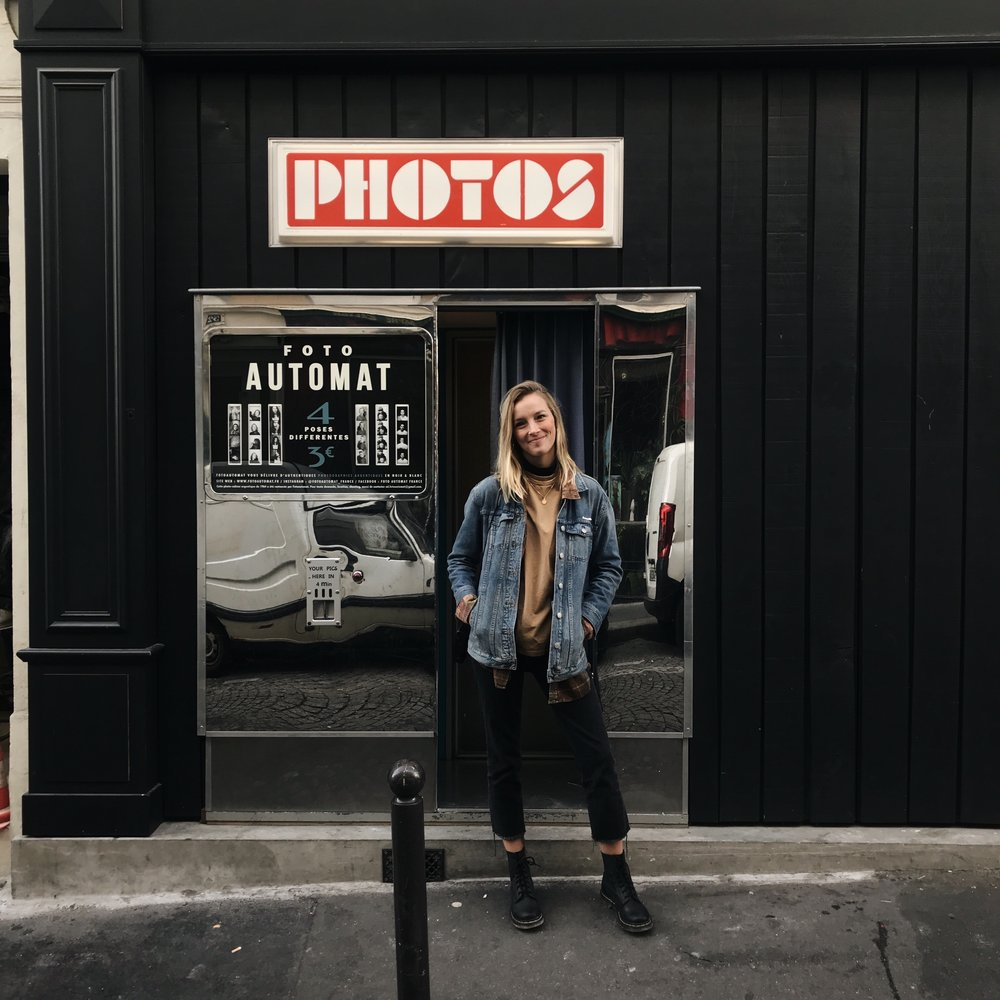 Photo booth hidden in Montmartre.