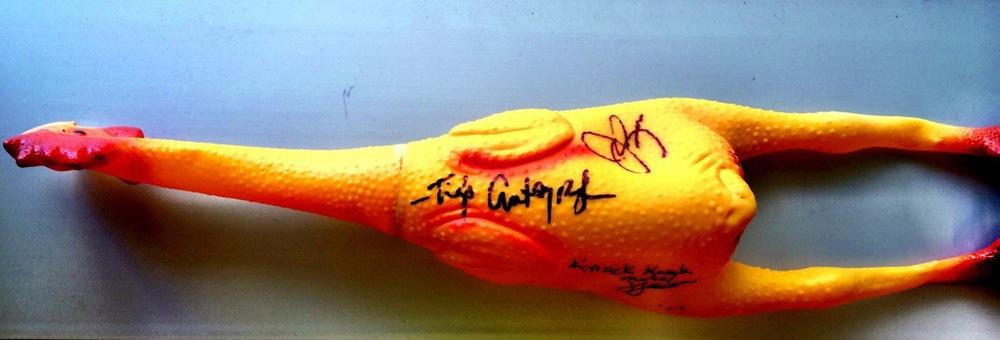 Tig's Autograph! Literally.