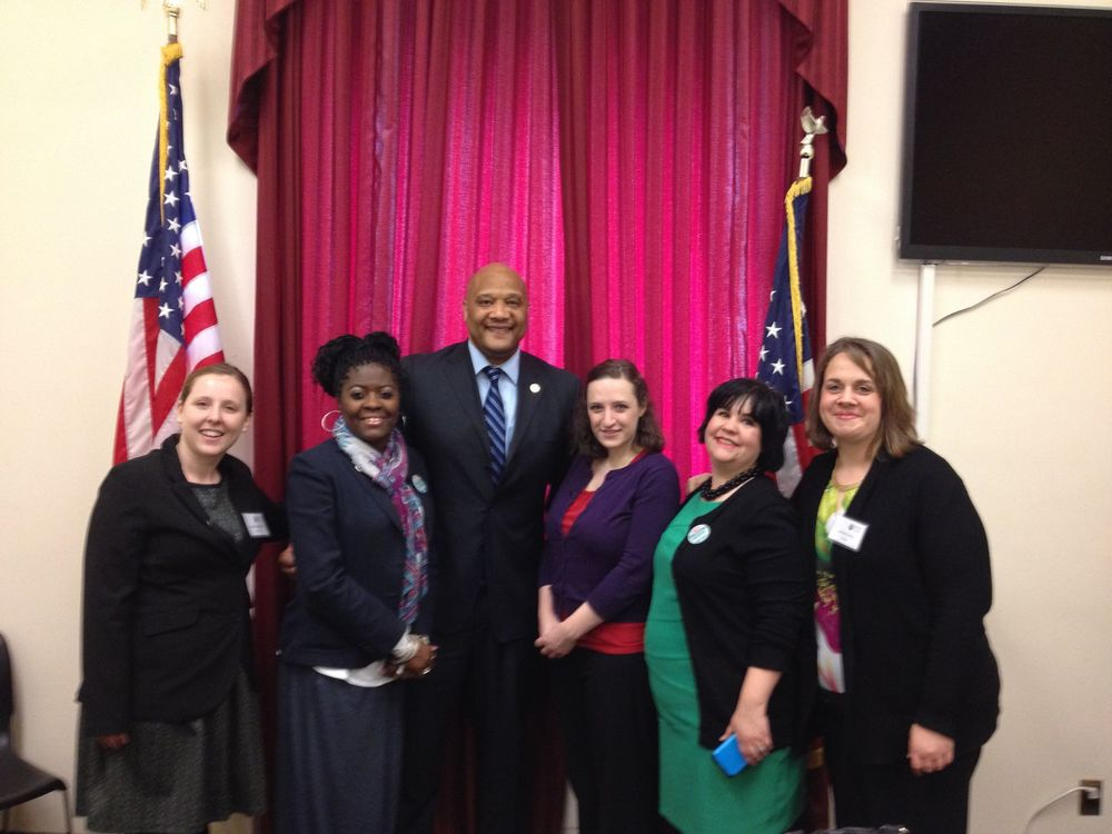Indiana Team with Representative André Carson. Megan Anderson, Annette Johnson, Novella Shuck. me and Jessica Ulhery.