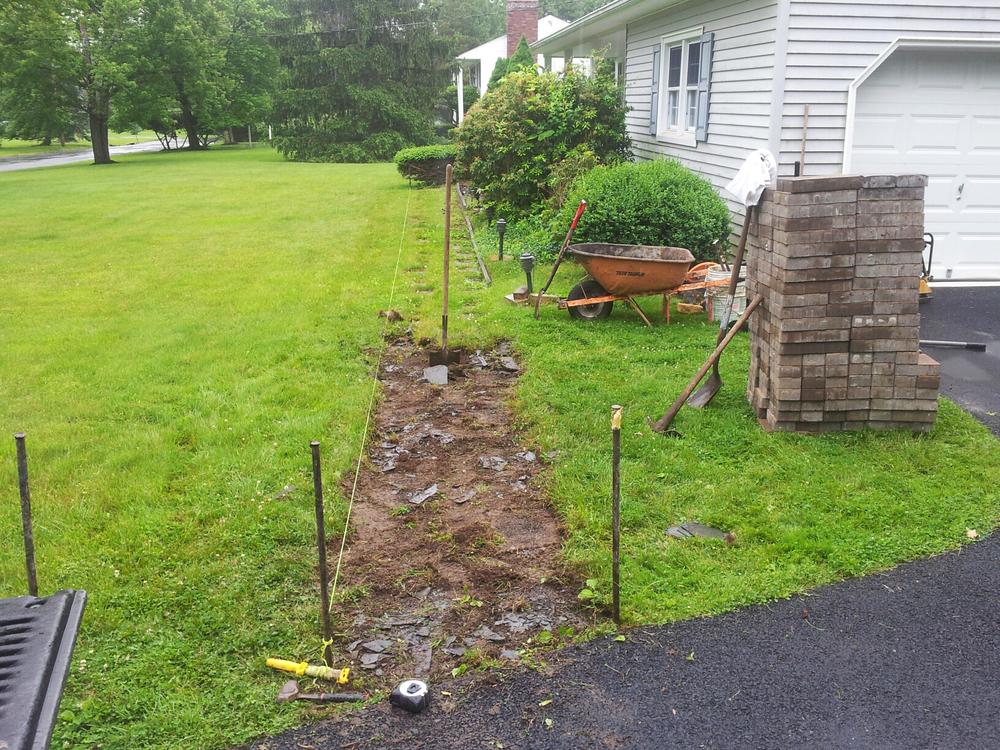 Walkway installation BEFORE