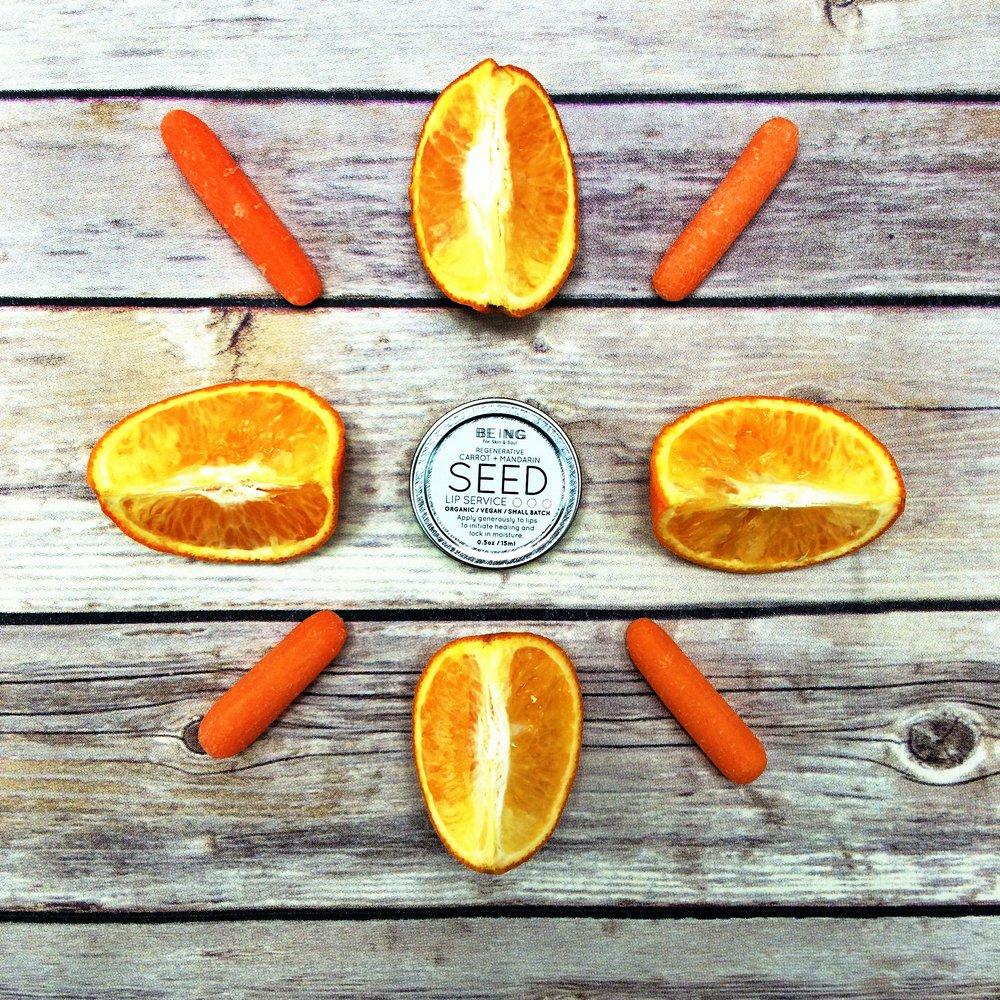 Seed lip service_lip balm_carrot_mandarin_ritual shot.JPG