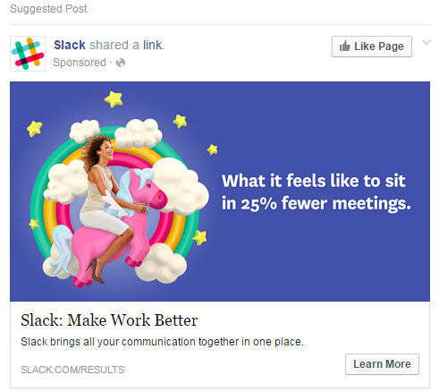 Slack knows how to be relatable and stand out in your social feed.