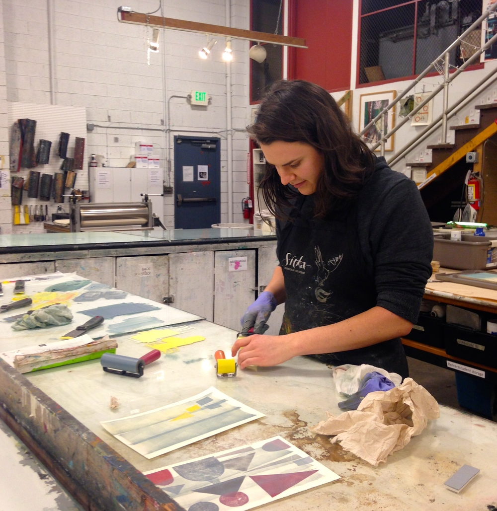 At work at Pratt Fine Arts Center in Seattle