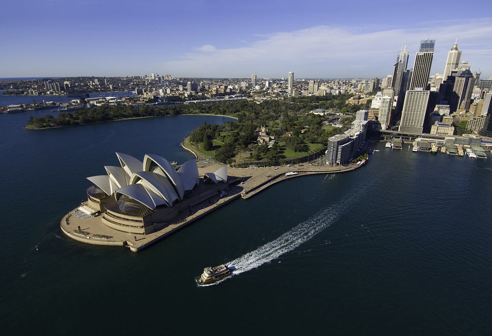 Opera House   from the air (photo credit  Jack Hamilton )