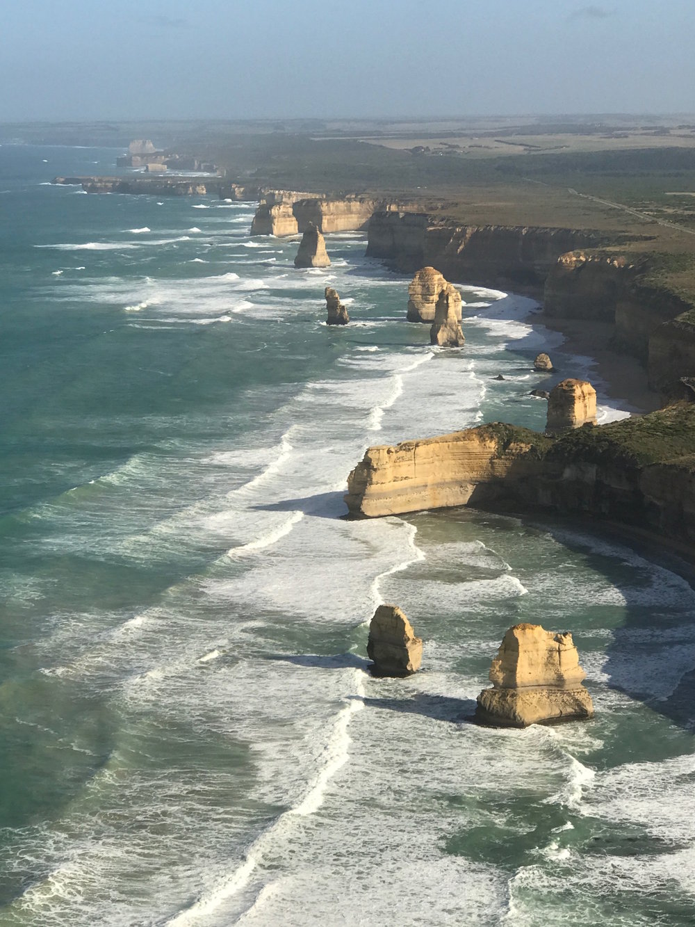 The Great Ocean Road by  helicopter.