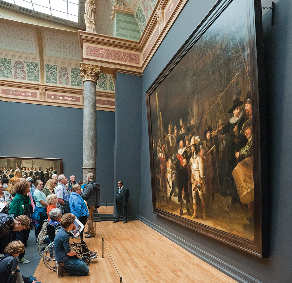The famed Rijksmuseum, home to one of the world's most important collections of artwork by the Dutch Masters.