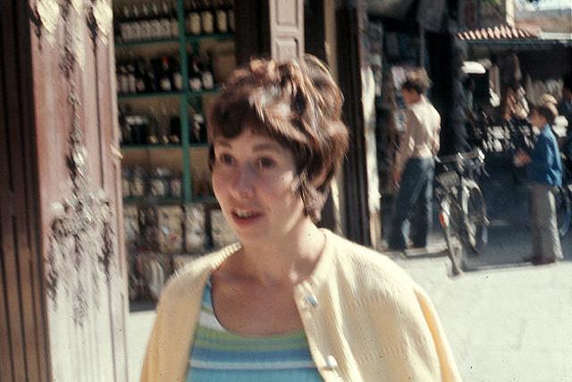 Look at my mom! The brunette Brigitte Bardot!