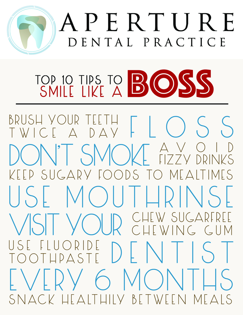 Aperture Dental Practice's top 10 tips to smile like a boss