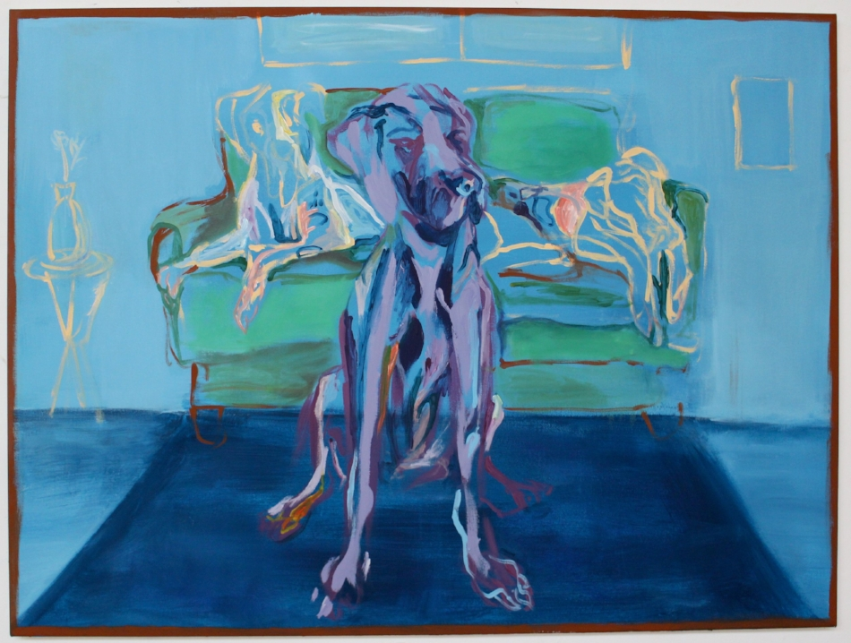 """Duke"" - Oil and Latex Paint on Canvas - 60 x 36 in"