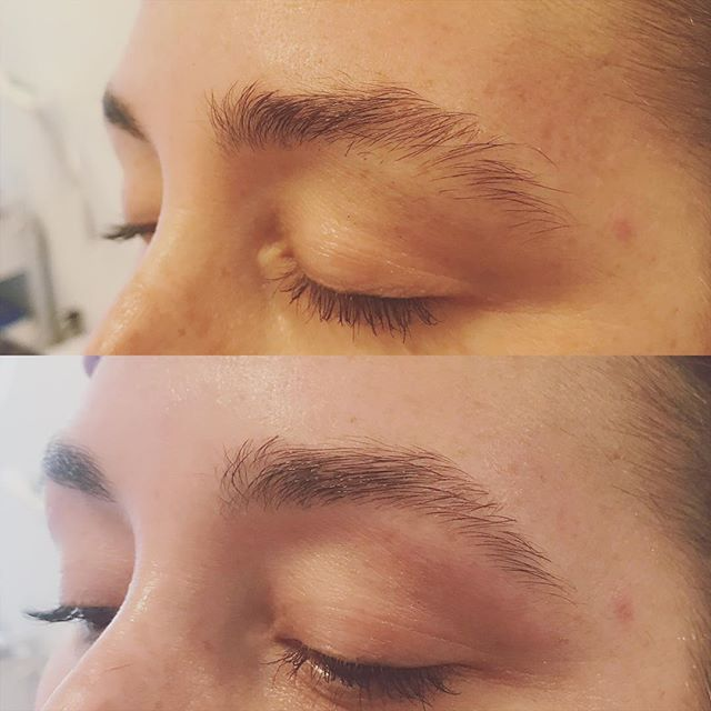 Before and after ❤️ @christiney_mareeny_bean . . . #oloorea #olooreasig #olooreabeauty #brows #featheredbrows #naturalbrows #oaklandbrows