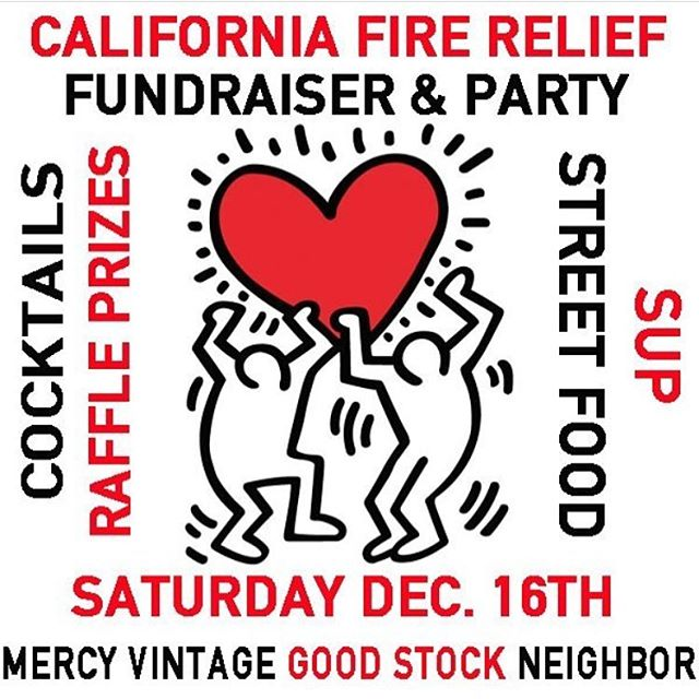 @mercyvintage is hosting a fire relief fundraiser tomorrow ❤️ Enter to win a signature brow from me and many other prizes from a bunch of talented people! Drinks poured by the lovely @mindib510 and food by @supstreetfood at @iloveneighbor - #partytime