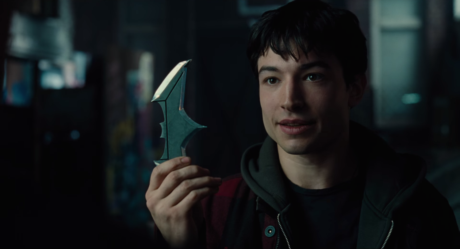 Screenshot from Justice League (2017) trailer - Ezra knows what we are talking about here!