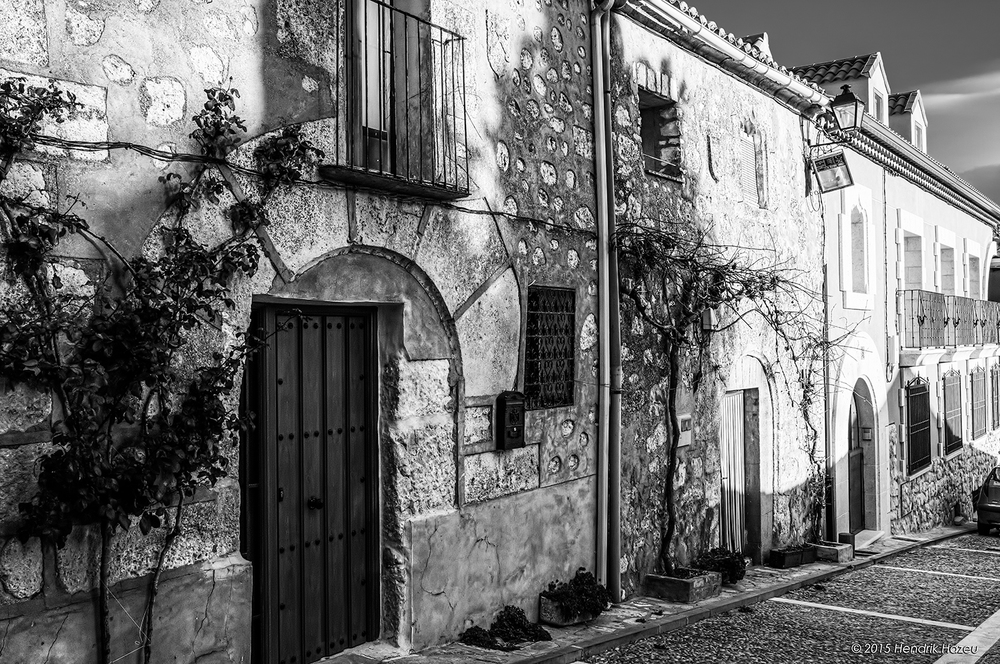 Lovely House Façade in Buitrago del Lozoya, Spain