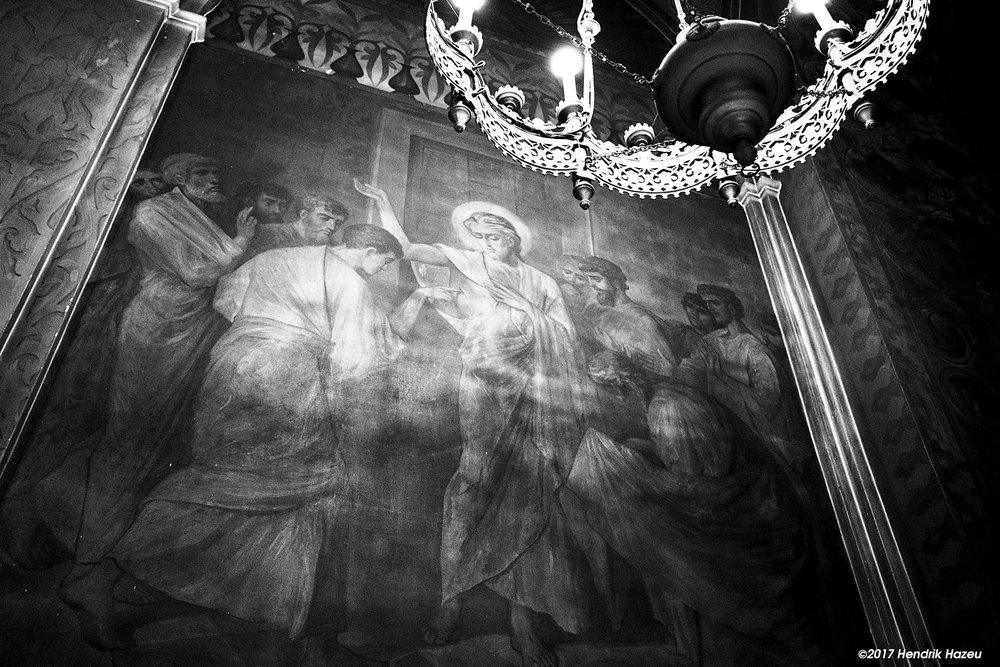 Russian Orthodox Mural, Fuji X-T2 and XF 23mm / f2, ACROS JPEG processed in Picktorial