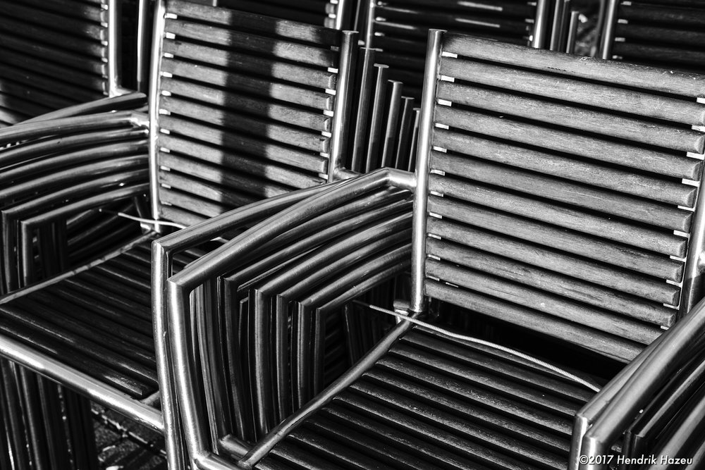 Chairs. Infinitely stacked, ACROS JPEG, processed with Lightroom CC mobile
