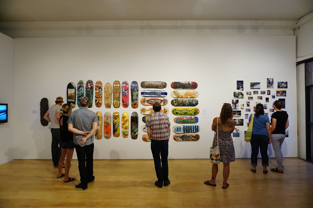 unit pitt vancouver art show mailyne skateboard asymmetry