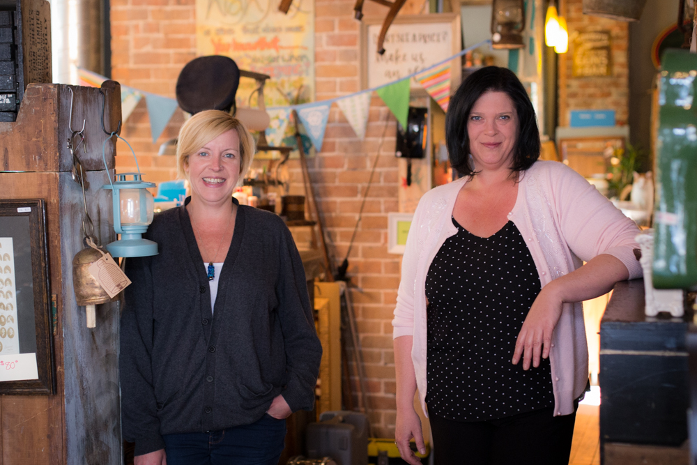 L to R: Leigh and Karen, Owners of highJinx!