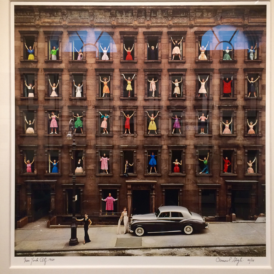 A print of Girls In The Windows  by Ormond Gigli, 1960.  Holden Luntz Gallery . Read the story behind this image  here .
