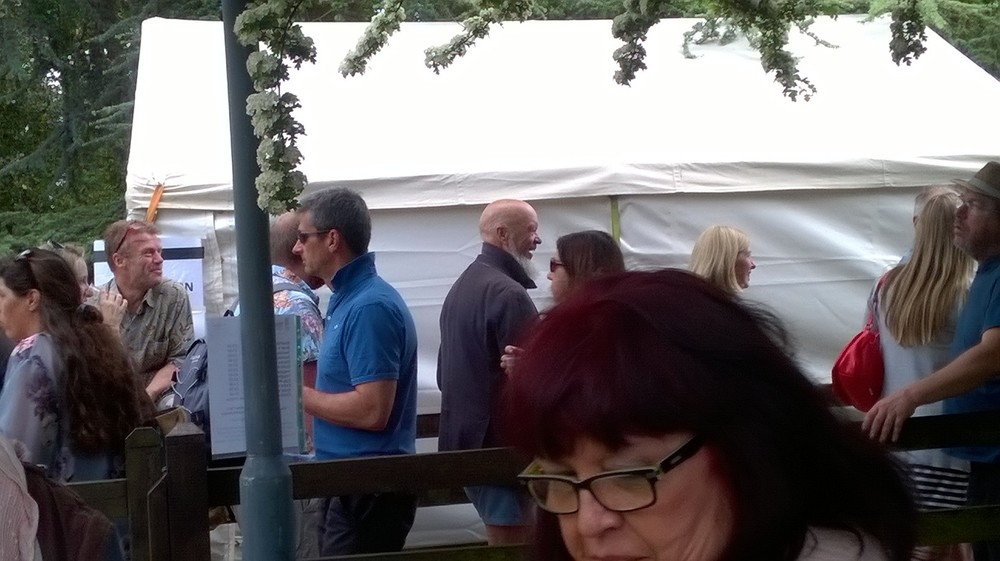 Celeb spot...Mr Eavis made an appearance at the event.
