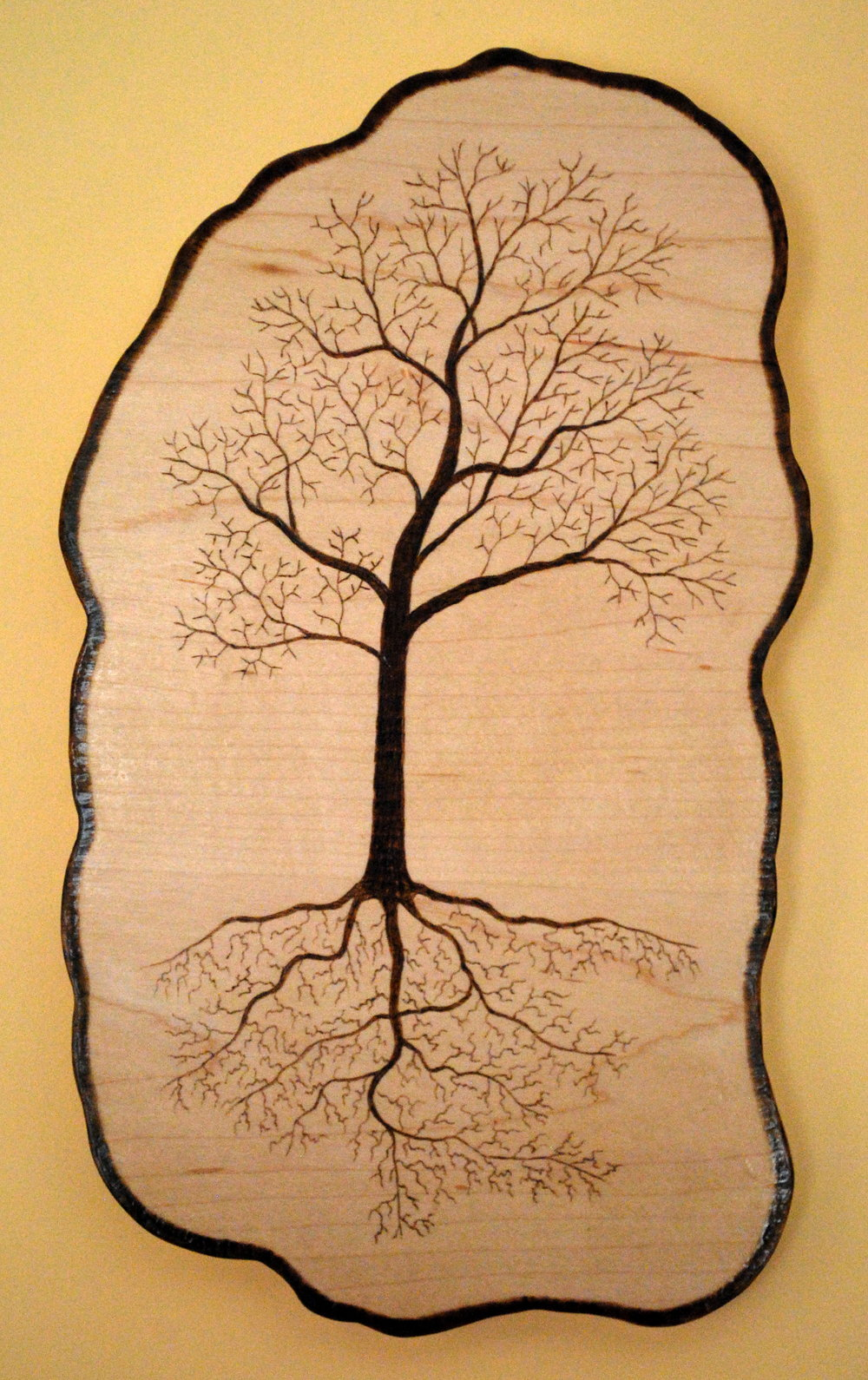 Tree of Life on Sugar Maple plank