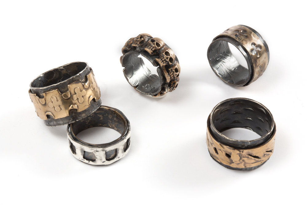Ring BLACK  SERIES in silver and bronze .jpg
