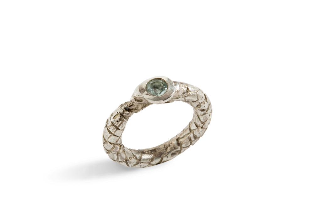 Ring OUROBORO in silver with aquamarine (2).jpg