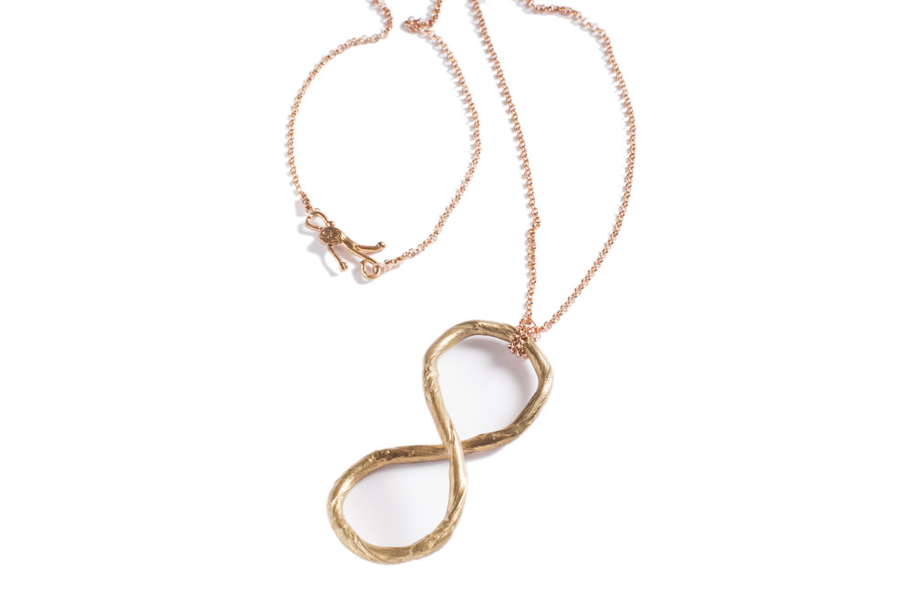 Pendant INFINITO in bronze and goldplated silver.jpg
