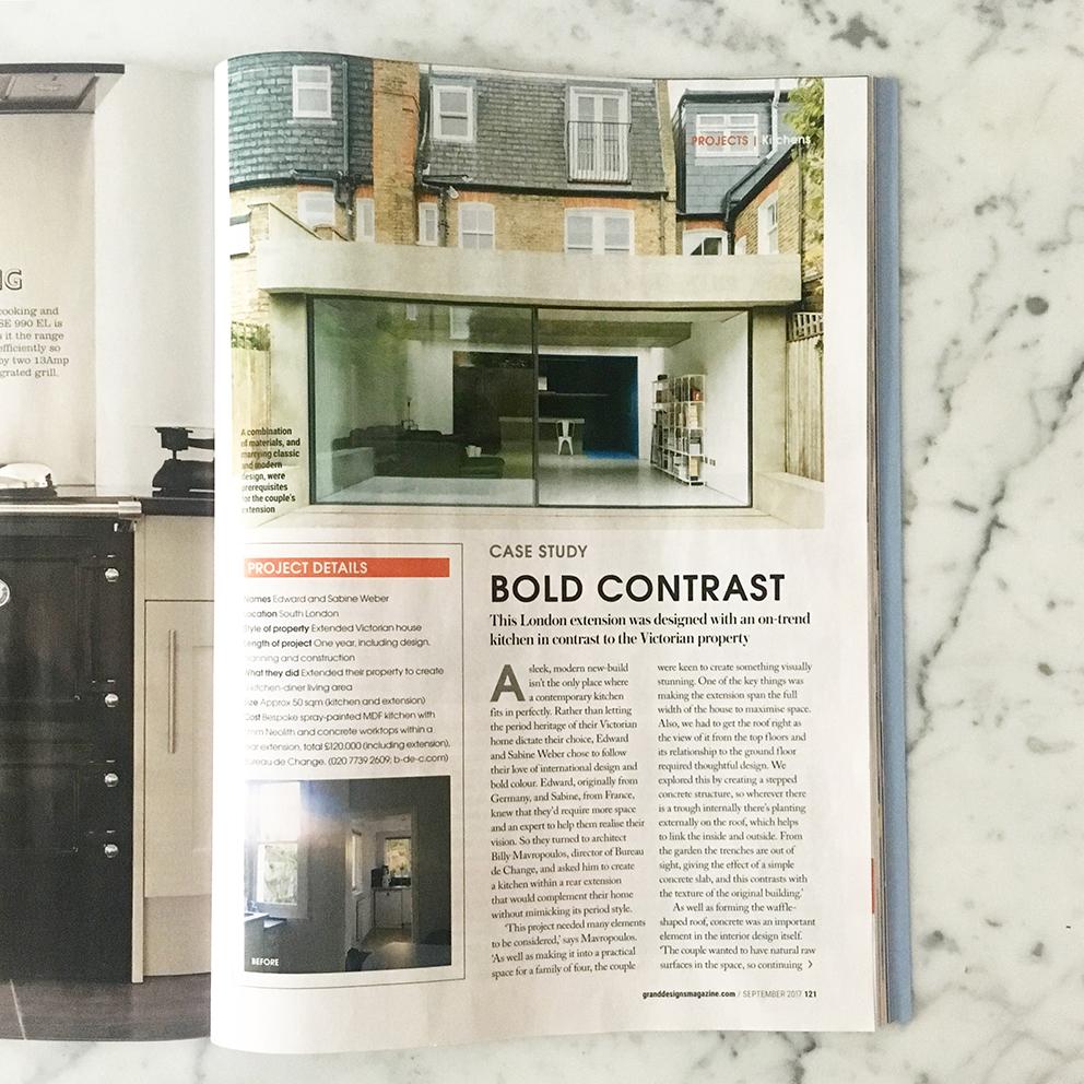Our Slab House in Grand Designs magazine — bureau de change
