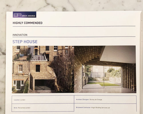Our step house won high commendation for innovation at the brick