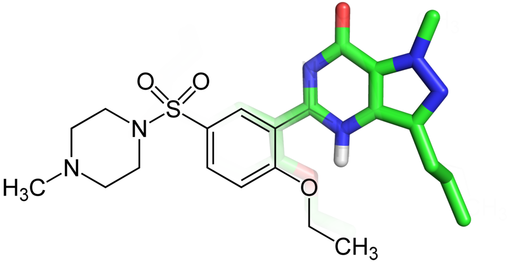 Figure 1. A fused 2D/3D structure of Sildenafil