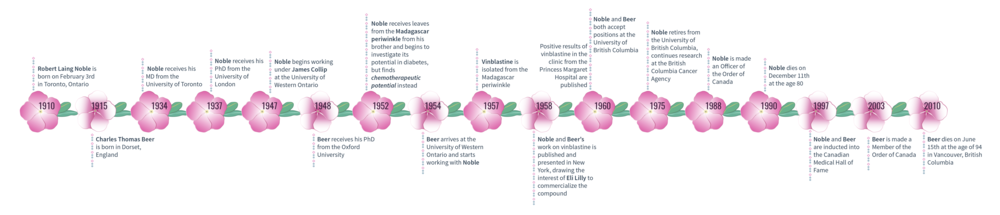 Figure 4. A timeline of significant events in Robert Noble and Charles Beer's lives.