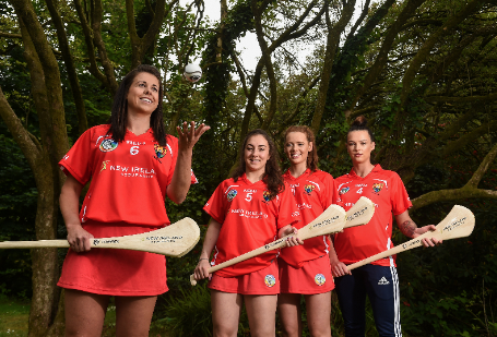 Cork camogie players, from left, Eimear O'Sullivan, Amy O'Connor, Meabh Cahalane and Ashling Thompson (Photo: Diarmuid Greene/Sportsfile)