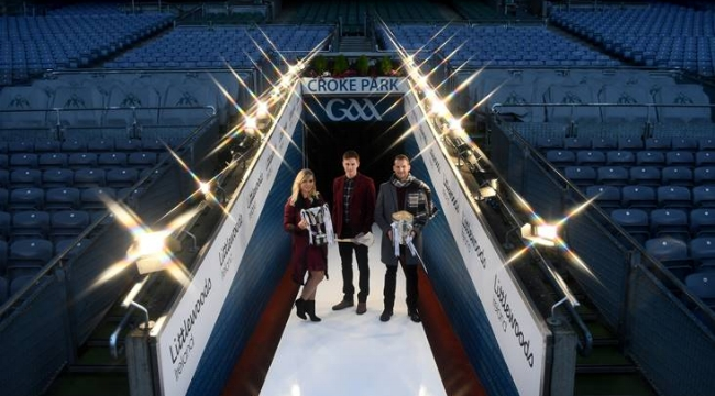 Anna Geary, Austin Gleeson and Jackie Tyrrell at Croke Park