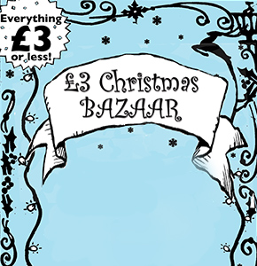 £3 CHRISTMAS BAZAAR Annual Artist Collaboration  Taking place since 2007 including Toynbee Hall, Barbican, Nunhead Salvation Army Find out more..
