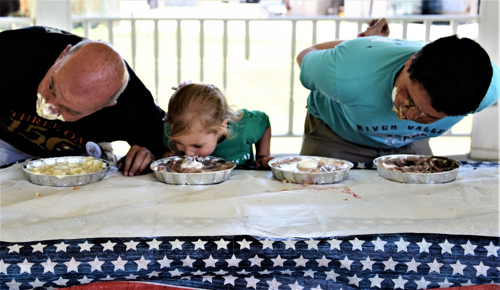 PIE EATING CONTEST FOR THE BRAVE AT HEART