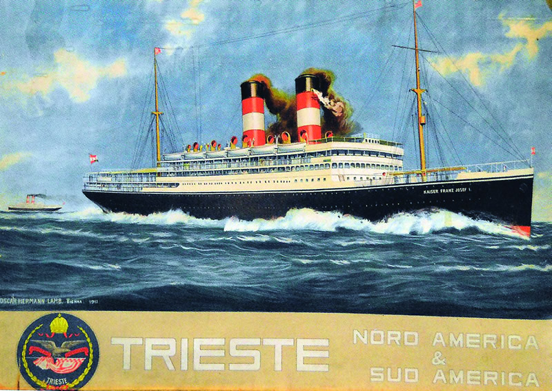 Postcard advertising the Kaiser Franz Josef I.