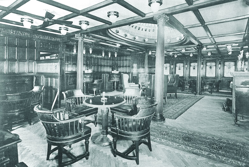 First class salon on the  Kaiser Franz Joseph I