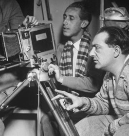 Famous director Fritz Lang during the shooting of the SciFi movie By Rocket to the Moon