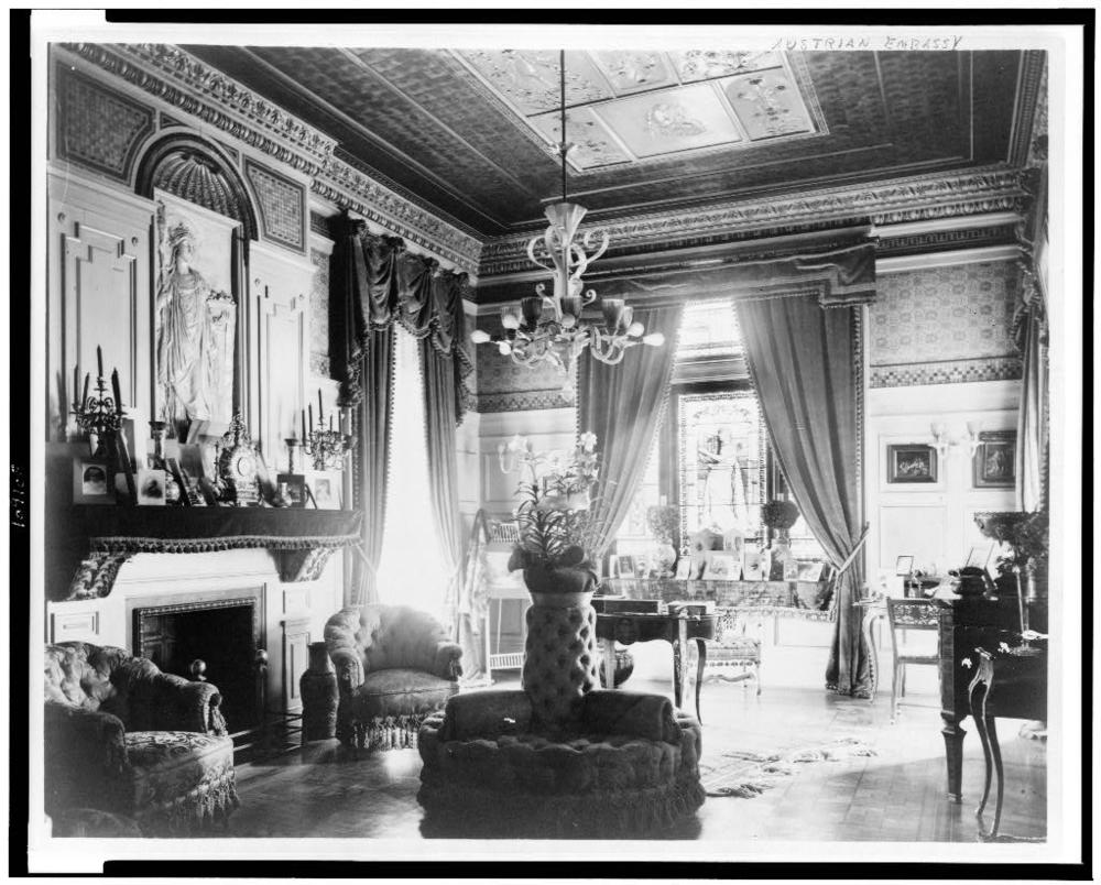 Salon at the Embassy of Austria-Hungary, 1893.