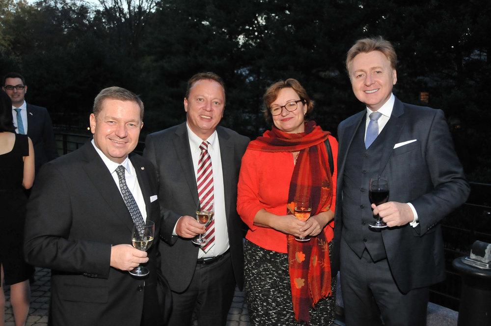 From left: Werner Amon, Hannes Weninger, Ambassador Brigitte Brenner, Andreas Karlsböck.