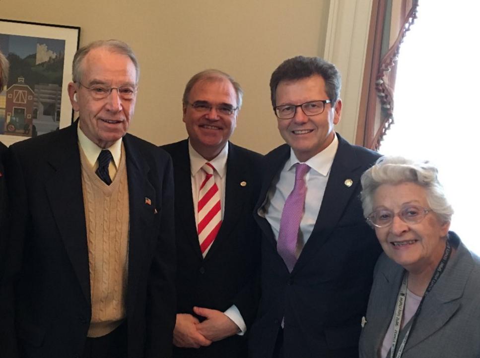 Minister Brandstetter, Ambassador Waldner meet Sen. Grassley (R-IA) and his wife