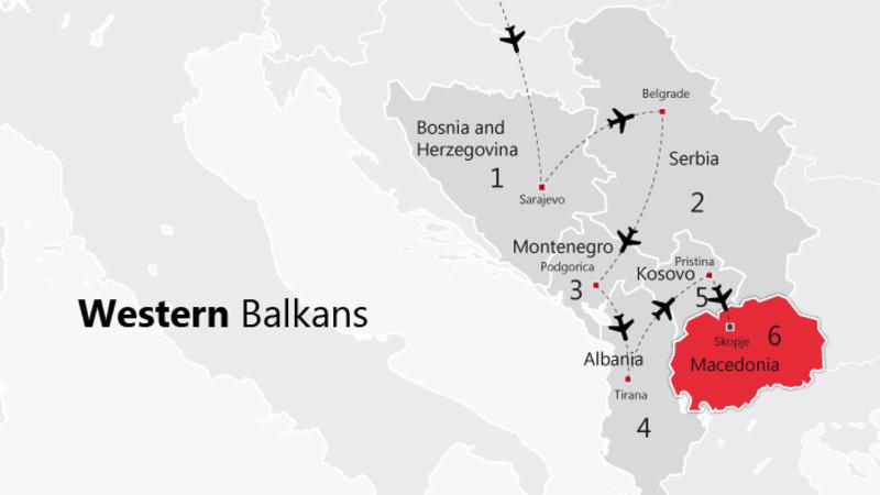 Travel map Western Balkans.Picture: BMEIA/Gabriel