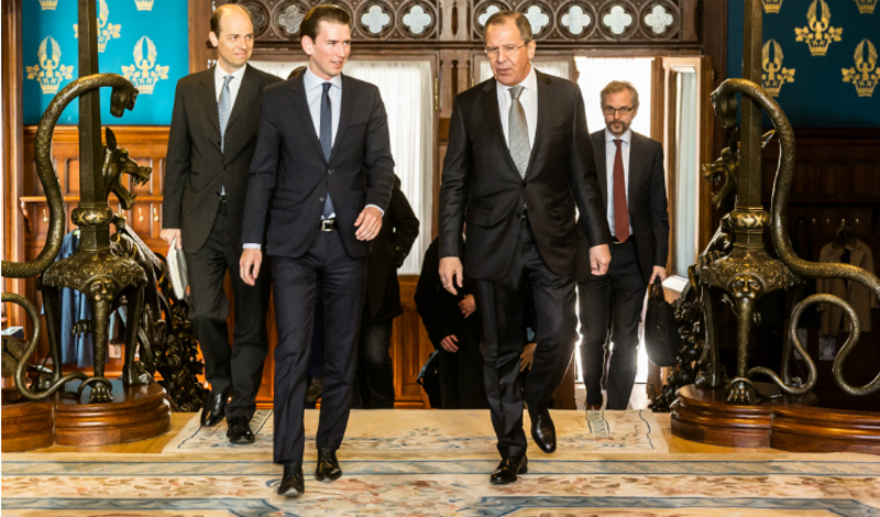 Foreign Minister Sebastian Kurz met with Russian Foreign Minister Sergej Lavrov in Moscow. 5 April 2016. Photo: Dimitriy Mernov
