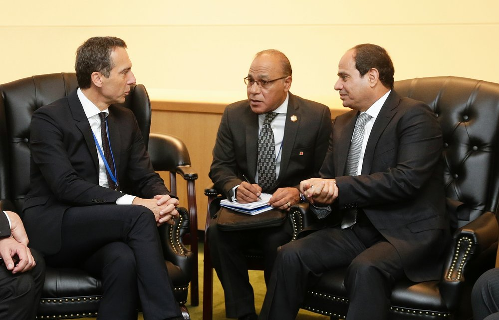 Chancellor Kern mets the President of Egyt Abdel Fattah Al-Sisi. Photo: BKA/Andy Wenzel