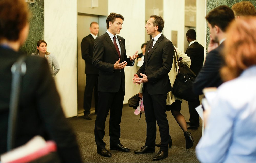 Chancellor Christian Kern and Canadian Prime Minister Justin Trudeau. Photo: BKA/Andy Wenzel
